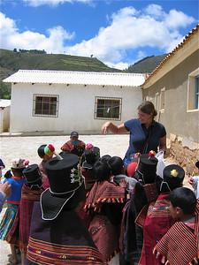Ballonnenpret in Molle Mayu. Bolivia
