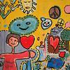 children's mural, Bolivia