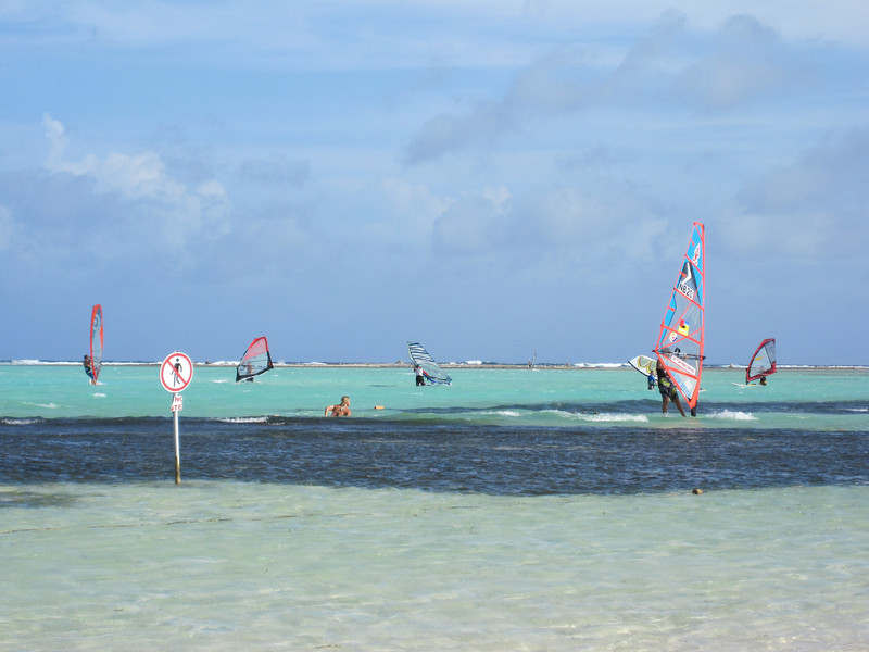 Sorobon beach on a windy day