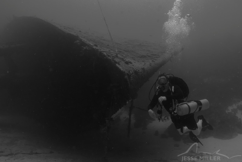 Wreck and Scuba Diver