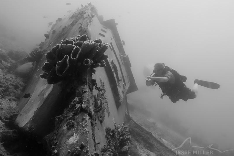 Wreck and Scuba Diver