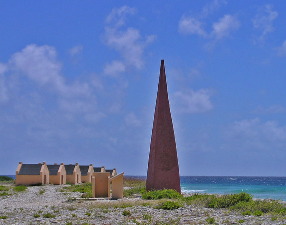 Dive site called Red Slave Huts, named for the huts that were once used by the salt workers.