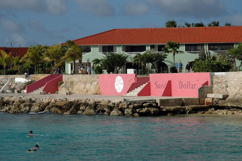 View of the resort from the dive dock.