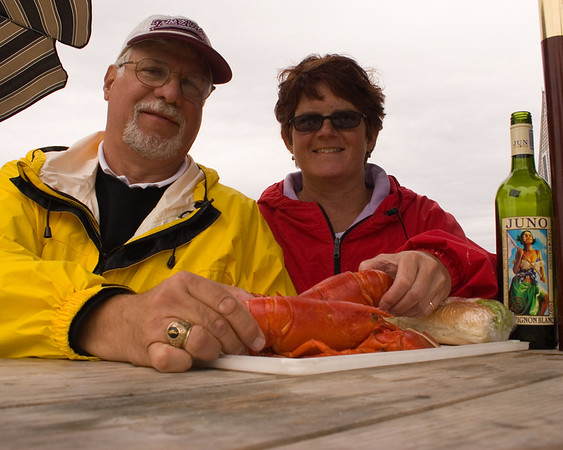 Two lobsters, a bottle of wine and a sugardaddy Monhegan, ME