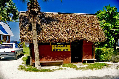 This is the shack where we had our tattoos done by a WONDERFUL artist named Marama