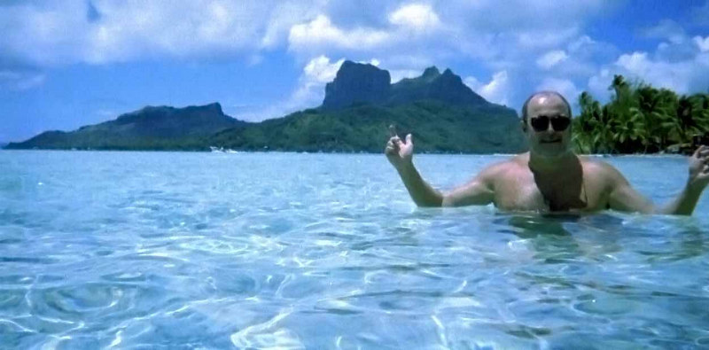 Allen with Bora Bora in the background