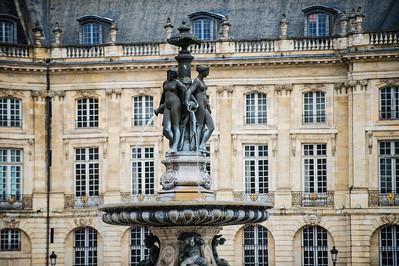Fontaine des 3 Graces Place de la Bourse, Bordeaux France