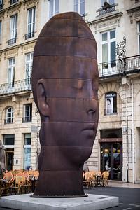 Sculpture on Place de la Comédie, Bordeaux, France