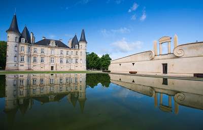 Chateau Pichon Longueville with it's famous reflective lake