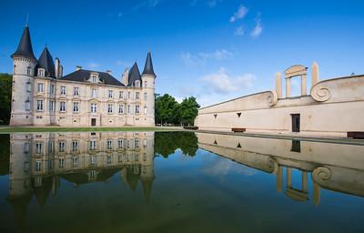 Chateau Pichon Longueville with it's famous reflective lake