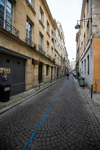The cobbled backstreets of Bordeaux, France