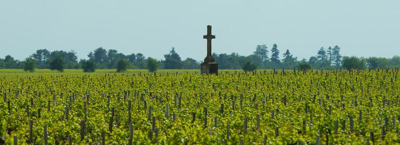 Cross in the vines by Chateau Pichon Longueville, Bordeaux France