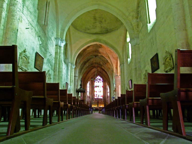 The cathedral in Saint-Emilion.  The village was started in about 750 A.D. by a monk - Emilion from Brittany.  The Ursuline Sisters established a convent here in 1620.