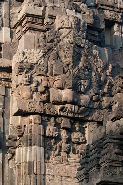 Kala Face guarding the entrance to Candi Shiva Mahadeva, Prambanan (Loro Jonggrang)