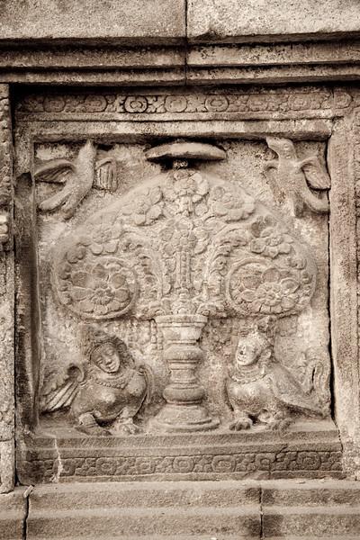 Kinnara Reliefs at Candi Vishnu (Loro Jonggrang), Prambanan