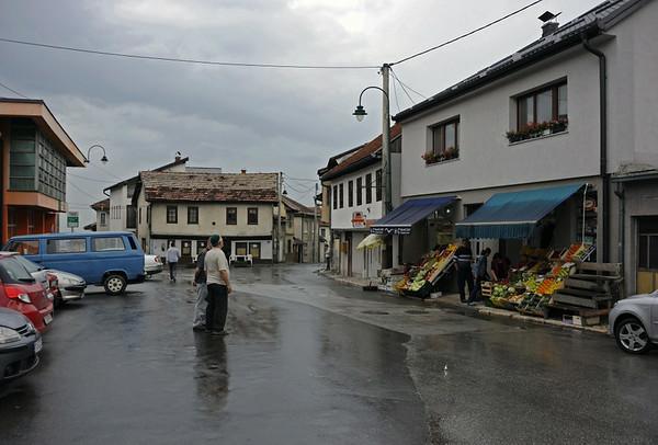 Vratnik Mejdan, Sarajevo, Bosnia-Hercegovina, 13 June 2014.  Looking west as the rain starts.