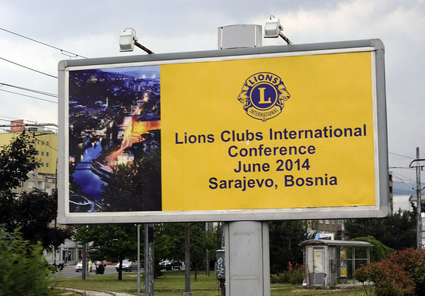 Coming soon to Sarajevo, Bosnia-Hercegovina, 13 June 2014 2.  (Photographed from inside a bus.)