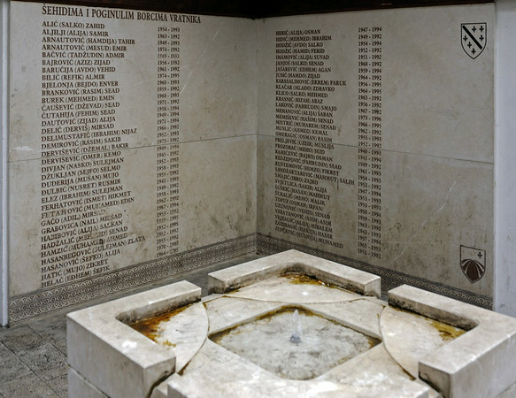 Muslim war memorial, Vratnik, Sarajevo, Bosnia-Hercegovina, 13 June 2014.