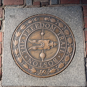 Freedom Trail Marker Outside Paul Revere's House