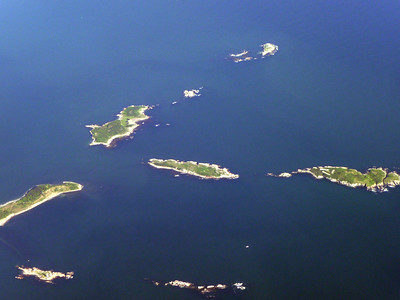 aerial view of the Boston Harbor Islands