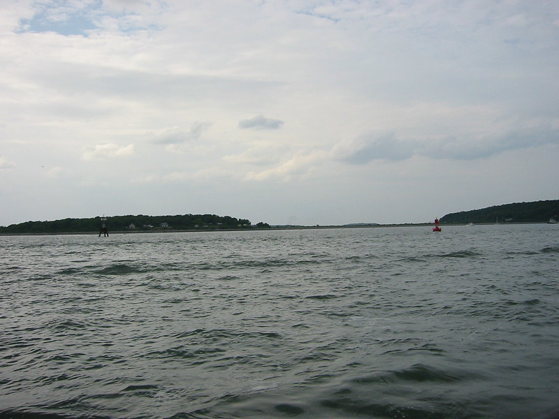 Looking back to grape island from the water taxi