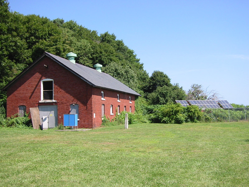 Stable converted to a dorm. Complete with solar panels.  Peddock's Island
