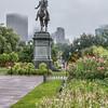 Statue of George Washington in the Public Garden. Boston, MA