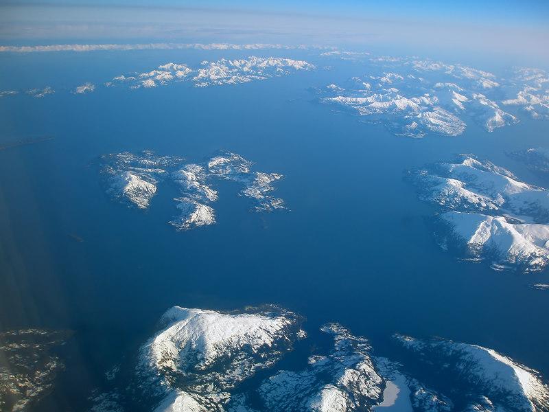 Prince William Sound, Alaska on return to Anchorage