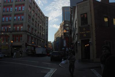 walk through downtown Boston