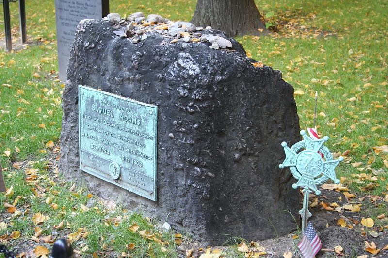 Samuel Adams headstone.