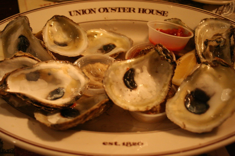 Lunch at Union Oyster House.