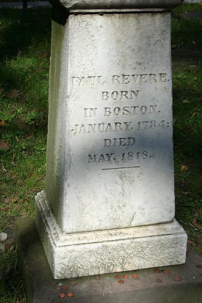 Paul Revere headstone.