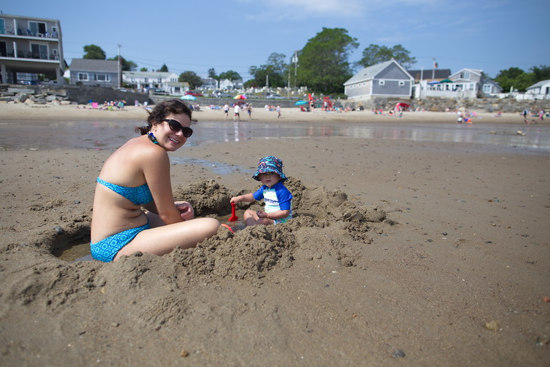 Happiness is a hole in the sand