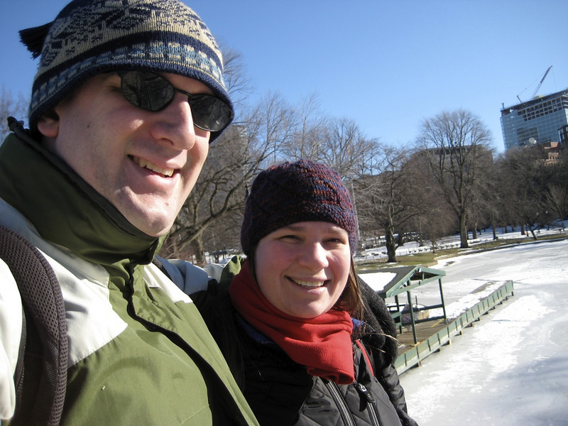 Mama and Papa at the Public Garden.