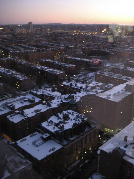 View of the South End from our hotel room.