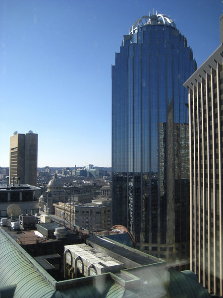 Some buildings around Copley Place and the Prudential, as viewed from our hotel window.