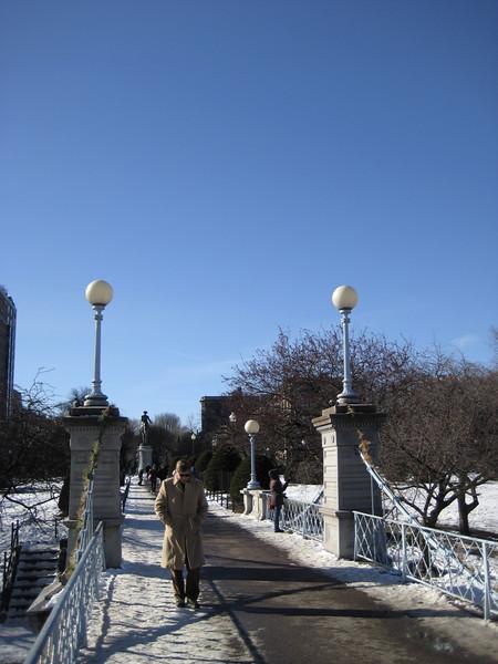 Bridge over the pond at the Public Garden.