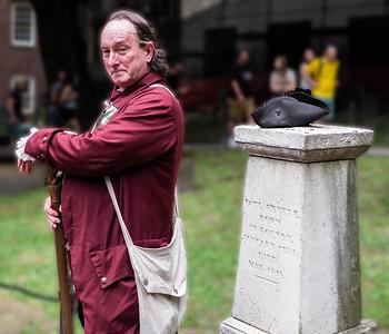 Cemetery marker for Paul Revere