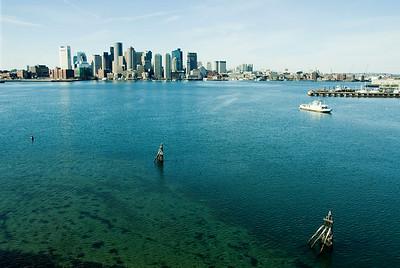 Boston across the harbor, Winter 2007