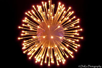An exploding ball of light at Jillian's