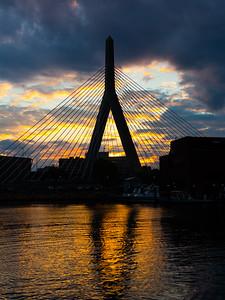 Bunker Hill Memorial Bridge Sunset