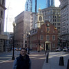 Jason at the Old State House (now a subway station).
