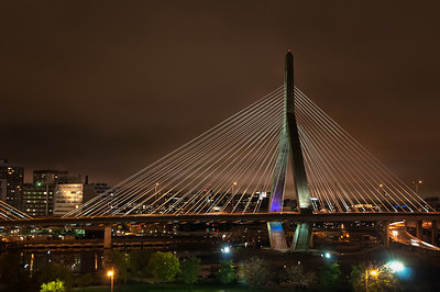 The Zakim Bridge At Night Boston 2008