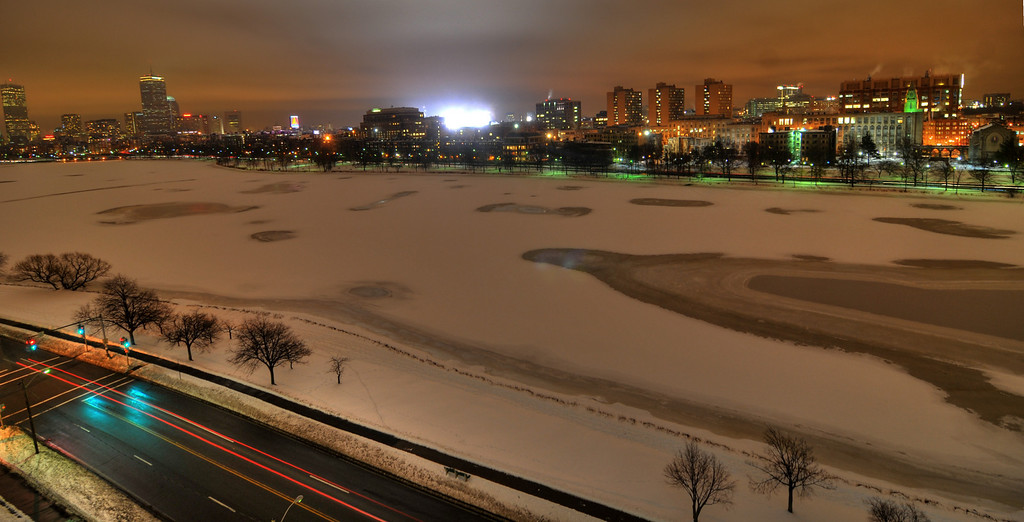 Charles River on ice