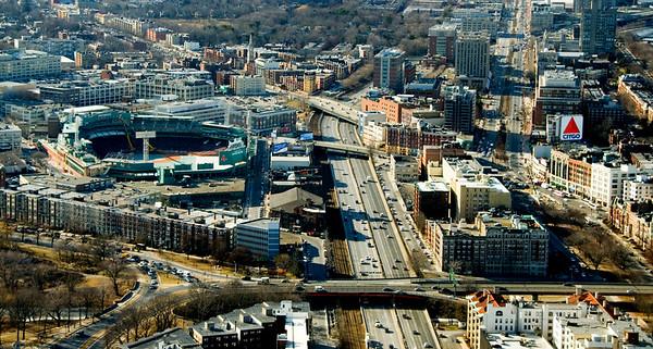 Fenway Park and Citgo sign, Boston.