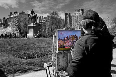 Artist i Boston Common