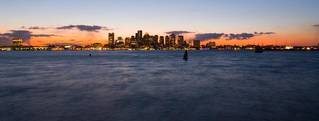 Boston across the harbor