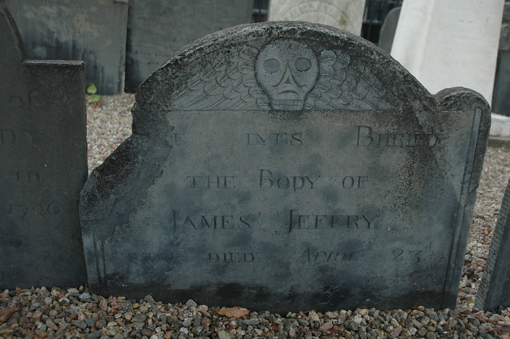 Grave of James Jeffry, Salem MA.