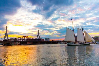 Liberty Clipper and Bridge