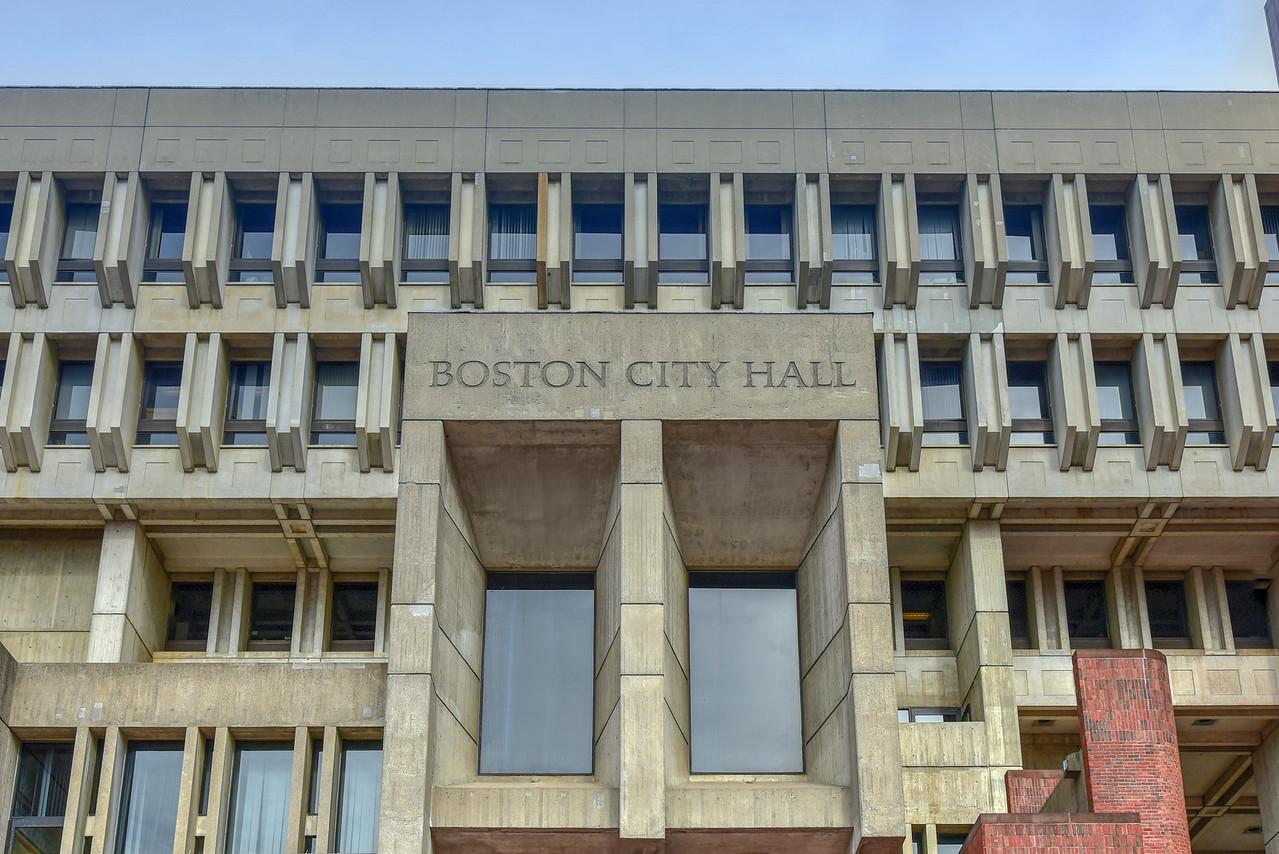 Boston City Hall in Government Center